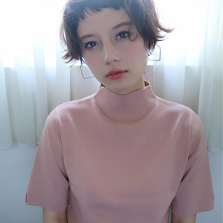 ショート ガーリー ピュア 外国人風 ヘアスタイルや髪型の写真・画像