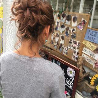 結婚式 女子力 ミディアム 成人式 ヘアスタイルや髪型の写真・画像