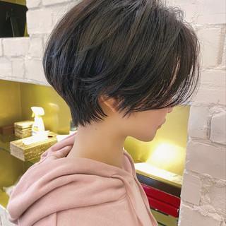 ショート ハンサムショート デート ナチュラル ヘアスタイルや髪型の写真・画像