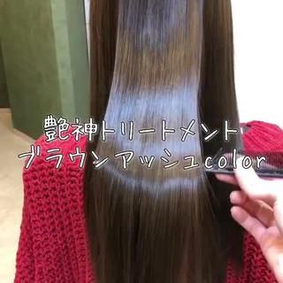 外国人風 髪質改善トリートメント 外国人風カラー トリートメント ヘアスタイルや髪型の写真・画像