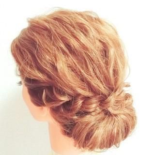 ブライダル ヘアアレンジ 大人かわいい ゆるふわ ヘアスタイルや髪型の写真・画像