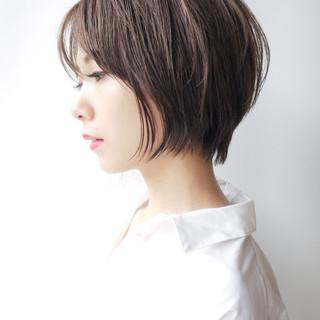 オフィス ショートボブ ショート 女子力 ヘアスタイルや髪型の写真・画像