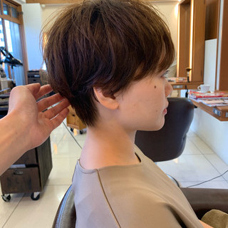 可愛い ナチュラル ショートヘア 大人可愛い ヘアスタイルや髪型の写真・画像