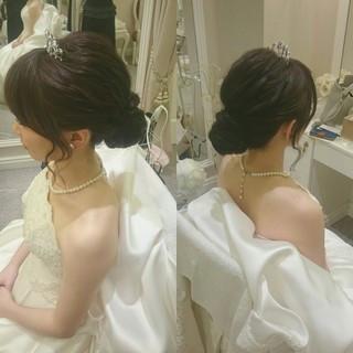 お祭り 和装 ロング エレガント ヘアスタイルや髪型の写真・画像