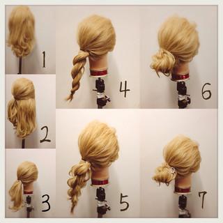 簡単ヘアアレンジ ショート 簡単 ヘアアレンジ ヘアスタイルや髪型の写真・画像