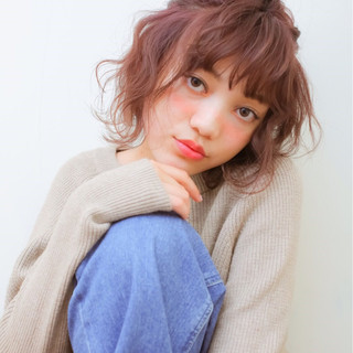 ハイライト ハーフアップ 外国人風 ガーリー ヘアスタイルや髪型の写真・画像