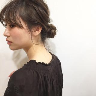 簡単ヘアアレンジ 結婚式 秋 ナチュラル ヘアスタイルや髪型の写真・画像 ヘアスタイルや髪型の写真・画像