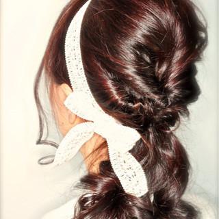 ショート ロング ゆるふわ ハーフアップ ヘアスタイルや髪型の写真・画像