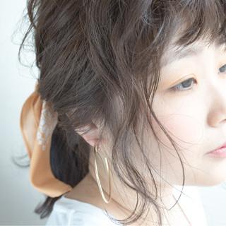 ショート セミロング ヘアアレンジ ナチュラル ヘアスタイルや髪型の写真・画像 ヘアスタイルや髪型の写真・画像