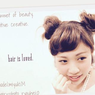 ヘアアレンジ ミディアム 卵型 ショート ヘアスタイルや髪型の写真・画像