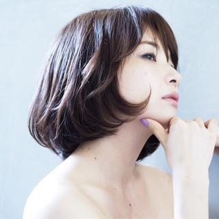 透明感 ショートボブ ボブ 秋 ヘアスタイルや髪型の写真・画像