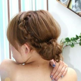 簡単ヘアアレンジ ショート ギブソンタック 結婚式 ヘアスタイルや髪型の写真・画像