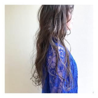 透明感 大人ハイライト ハイトーンカラー ロング ヘアスタイルや髪型の写真・画像