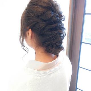 簡単ヘアアレンジ 結婚式 ロング 大人かわいい ヘアスタイルや髪型の写真・画像