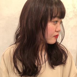 フェミニン 秋 ハイライト ラベンダー ヘアスタイルや髪型の写真・画像