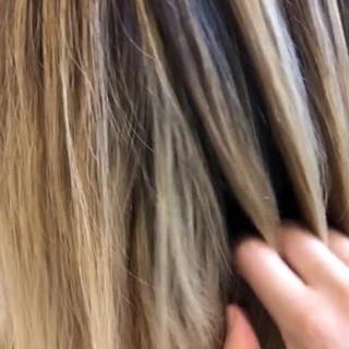 外国人風カラー ロブ 西海岸風 ミディアム ヘアスタイルや髪型の写真・画像