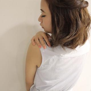 大人かわいい 簡単ヘアアレンジ ショート フェミニン ヘアスタイルや髪型の写真・画像