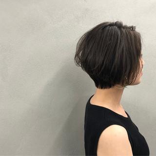 ショート ショートボブ ナチュラル 似合わせ ヘアスタイルや髪型の写真・画像