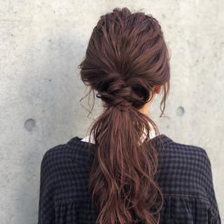 アンニュイほつれヘア 表参道 ロング 簡単ヘアアレンジ ヘアスタイルや髪型の写真・画像