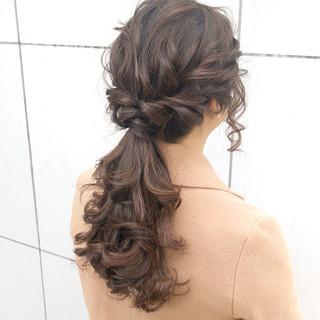ロング デート ヘアアレンジ 簡単ヘアアレンジ ヘアスタイルや髪型の写真・画像