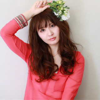 大人かわいい フェミニン 大人女子 ロング ヘアスタイルや髪型の写真・画像