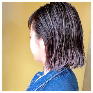 ハイライト ウェットヘア 夏 ストリート ヘアスタイルや髪型の写真・画像