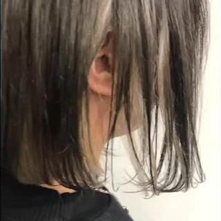 ボブ 前下がりボブ 簡単スタイリング ナチュラル ヘアスタイルや髪型の写真・画像