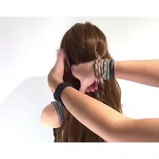 色気 夏 フェミニン 簡単ヘアアレンジ ヘアスタイルや髪型の写真・画像