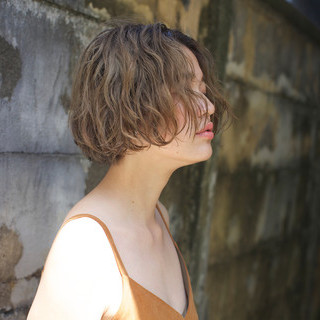ナチュラル ショート 外国人風カラー 抜け感 ヘアスタイルや髪型の写真・画像