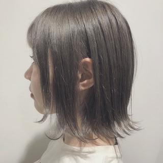 オリーブベージュ ストリート モテボブ 圧倒的透明感 ヘアスタイルや髪型の写真・画像