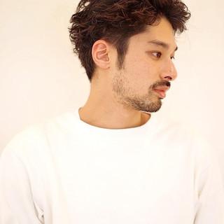 ナチュラル メンズショート ショート メンズパーマ ヘアスタイルや髪型の写真・画像 | 鈴木崚麻 / BEAUTRIUM鎌倉小町