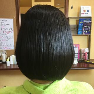 ストレート グラデーションカラー ボブ 大人かわいい ヘアスタイルや髪型の写真・画像