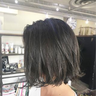 ストリート ハイライト ボブ 暗髪 ヘアスタイルや髪型の写真・画像