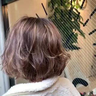 大人かわいい ハイライト デート ストリート ヘアスタイルや髪型の写真・画像
