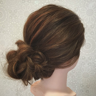 セミロング 結婚式 大人アレンジ エレガント ヘアスタイルや髪型の写真・画像