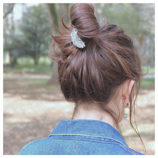 ショート ナチュラル セミロング 外国人風 ヘアスタイルや髪型の写真・画像 ヘアスタイルや髪型の写真・画像