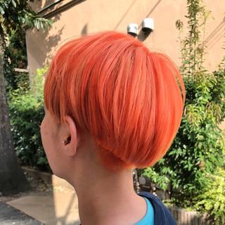 グラデーションカラー ショート グレージュ ストリート ヘアスタイルや髪型の写真・画像 ヘアスタイルや髪型の写真・画像