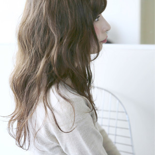 ガーリー セミロング 大人かわいい ゆるふわ ヘアスタイルや髪型の写真・画像