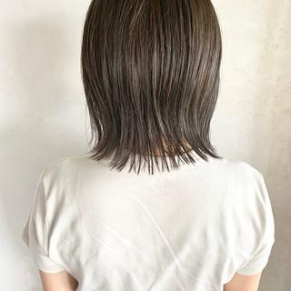 ボブ ショートボブ グレージュ ナチュラル ヘアスタイルや髪型の写真・画像