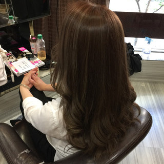 くすみカラー ロング マット 渋谷系 ヘアスタイルや髪型の写真・画像