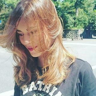 小顔 大人女子 デジタルパーマ ストリート ヘアスタイルや髪型の写真・画像