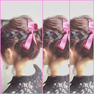 ショート ハーフアップ ボブ ゆるふわ ヘアスタイルや髪型の写真・画像 ヘアスタイルや髪型の写真・画像