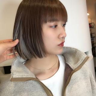 インナーカラー ストリート ダブルカラー ミルクティーベージュ ヘアスタイルや髪型の写真・画像