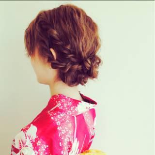 簡単ヘアアレンジ 大人かわいい お祭り 夏 ヘアスタイルや髪型の写真・画像