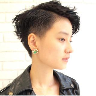 ショート ベリーショート ジェンダーレス ストリート ヘアスタイルや髪型の写真・画像 ヘアスタイルや髪型の写真・画像