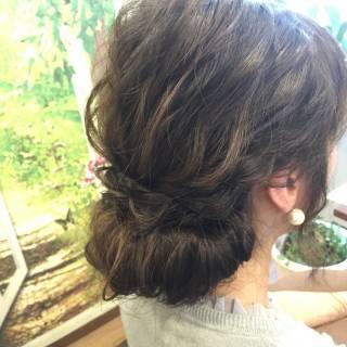 ヘアアレンジ モテ髪 フェミニン 愛され ヘアスタイルや髪型の写真・画像