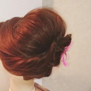 セミロング 和装 着物 ヘアアレンジ ヘアスタイルや髪型の写真・画像