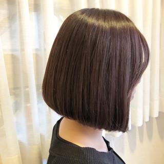 外国人風カラー ショートボブ 前下がり 艶髪 ヘアスタイルや髪型の写真・画像 ヘアスタイルや髪型の写真・画像
