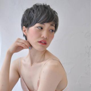こなれ感 小顔 外国人風 ショート ヘアスタイルや髪型の写真・画像