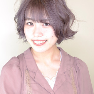 ブリーチ ダブルブリーチ ガーリー ハイトーンカラー ヘアスタイルや髪型の写真・画像
